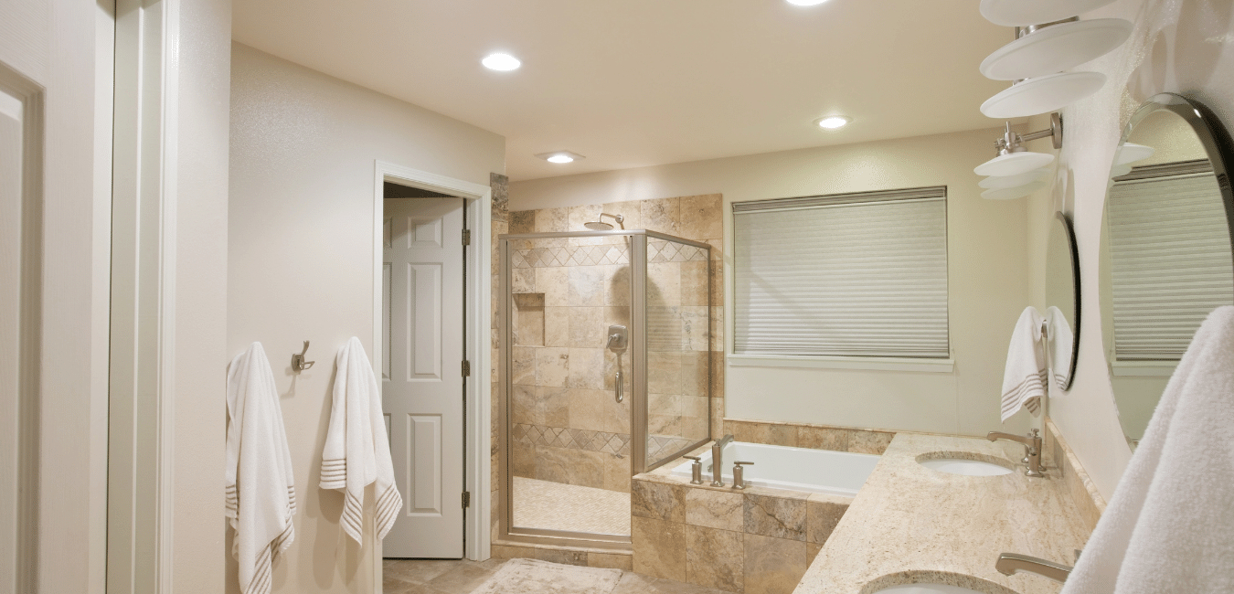 finished bathroom in westlake village